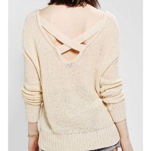 Sparkle & Fade strappy crossback sweater